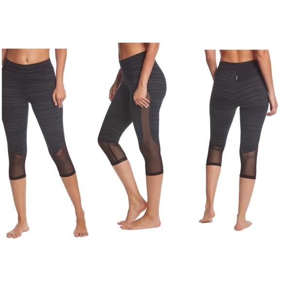 Hard Tail Pants - HARD TAIL MID RISE MESH STRIPED CAPRI